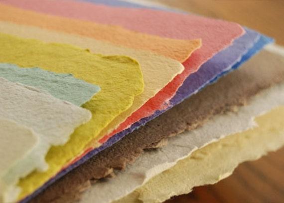 Handmade Paper Pack - Rainbow