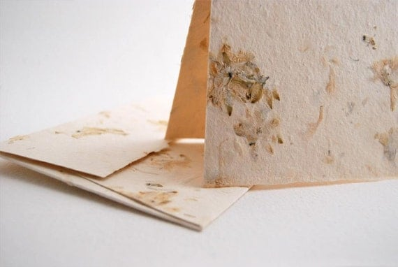 Handmade Paper Card Set of 4