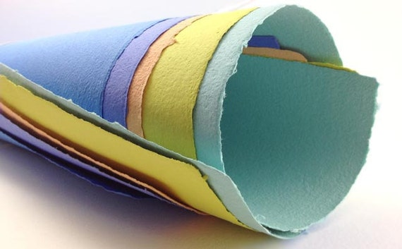 Handmade Paper in Bright Colors