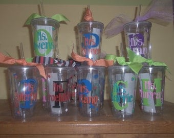 Personalized Decorated Tumblers - Teacher Appreciation, Birthday, Party favor, Bridesmaids, teacher gifts, teams