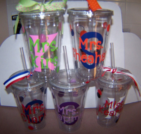 Personalized Tumblers Teacher Appreciation or pool side