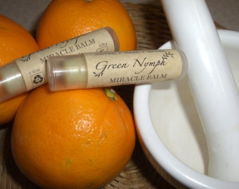 MIRACLE BALM by Green Nymph - One .15-oz Tube - Happy Skin, from Face to Feet - 100% Natural - Hallelujah