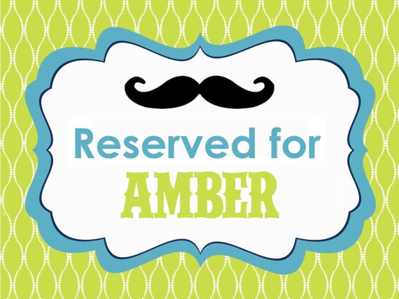 Reserved for Amber