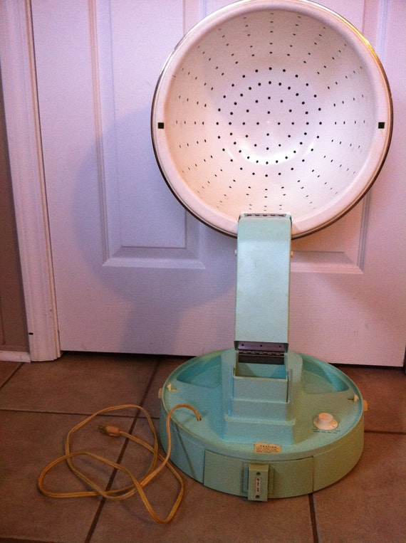 amazing working vintage sears salon hairdryer in robins egg blue- ON SALE