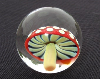 Red Spotted Mushroom Marble