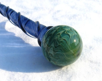 Marble Hairstick Mossy Green