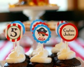 Lil' Pirates Party Collection - PRINTABLE PARTY CIRCLES by Itsy Belle
