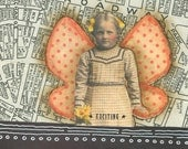 The Exciting Fairy - Original Collage - FREE SHIPPING