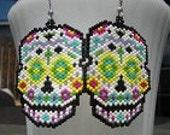 BEADING PATTERN SuGaR SkUll earring or pendant, for hand beaded earrings