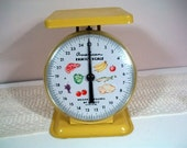 RESERVED for Allison: Vintage American Family Scale in Canary Yellow with a Metal Platform