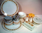 RESERVED for EquallySweet Vintage Corelle/Pyrex Butterfly Gold Starter Set: Collectible