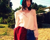 Pretty in pink vintage blouse Sz S-M