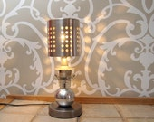 Upcycled table/ accent lamp - Aequus Lamp -
