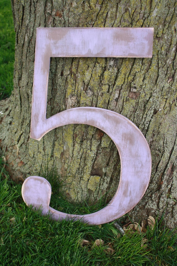 "24"" distressed wooden letter, ampersand or number- you choose letter and color"