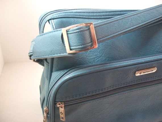 Vintage Samsonite Luggage Steel Blue