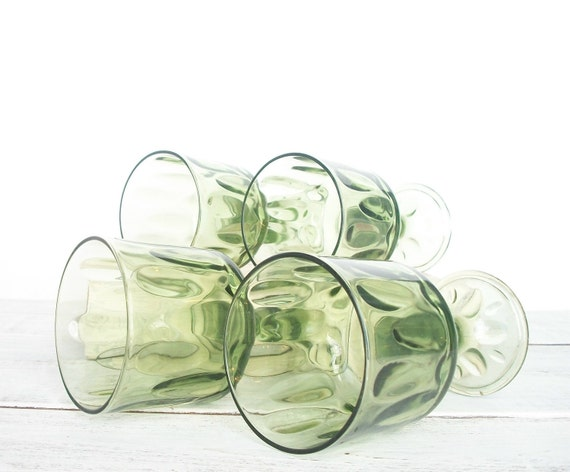Stemmed Glasses in Fresh Green  projectt eclectict helloteam tbteam