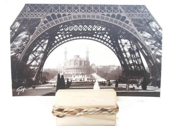 Paris France Eiffel Tower Vintage Post Cards Black And White Home Decor