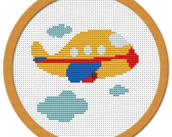 My Little Airplane Cross Stitch Pattern PDF