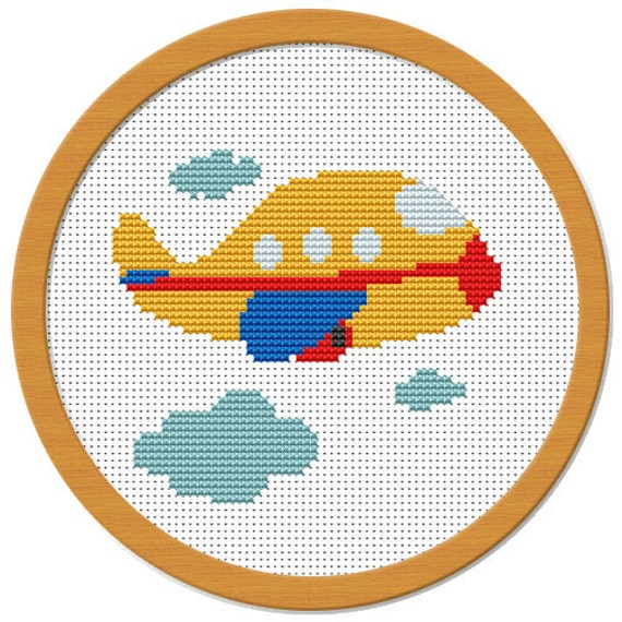 My Little Airplane Cross Stitch Pattern PDF