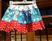Dr Seuss Inspired A thousand Twirls cat in the hat skirt