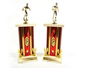 vintage his and hers bowling trophies
