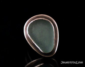 Sterling Silver Sea Glass Ring -  'READY TO SHIP'