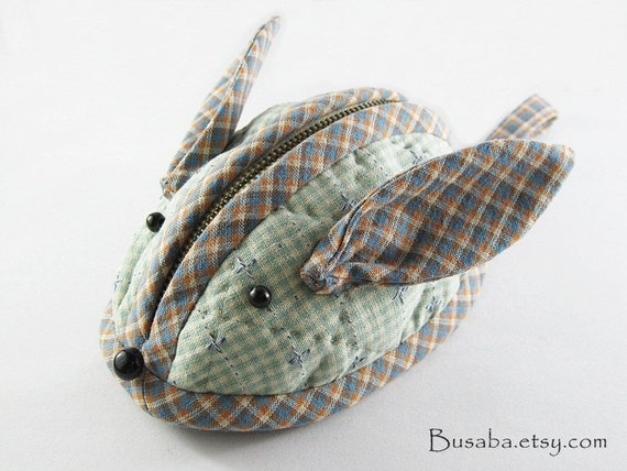 Handmade  Rabbit  Purse  - Ready to Ship.