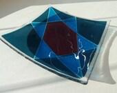 Handmade Glass Plate David Star Pessach Gift