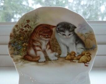 Easter kittens and chicks /  cat lover ornament / Easter decor cats kittens