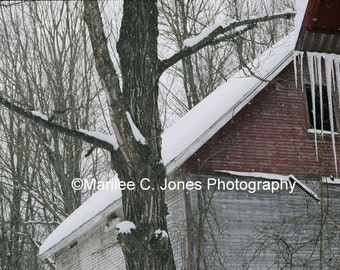 Icicle Barn Fine Art Vermont Photo Print: Multiple Sizes Available
