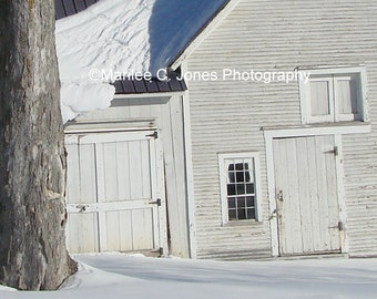 Silver Frosted Barn Fine Art Vermont Photo Print: Multiple Sizes Available