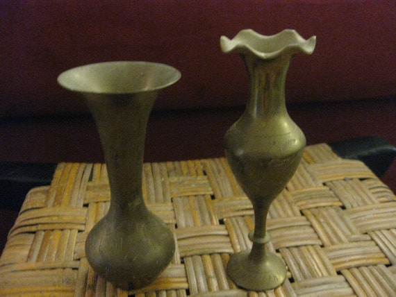 Two Brass Vases
