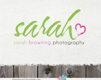 Premade Logo Photography Logo and watermark photography logo premade logo heart logo photographer logo premade logo design logo photography