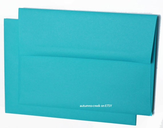 30 4x6 A6 A-6 Premium Alpine Teal Blue Square-Flap Envelope