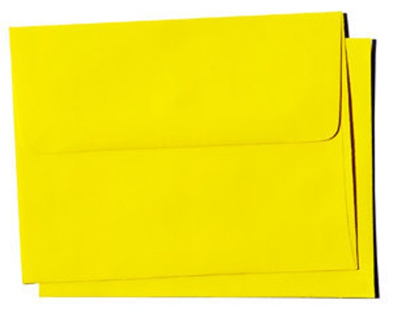 25 54x6 A6 A-6 Sunburst Yellow Square-Flap Envelope