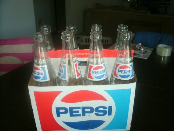 8 pack of pepsi cola carton full with empty by ginamnelson