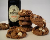 Guinness Chocolate Cookies - St Patrick's Day Gift Tin - Gourmet Beer Cookies - One Dozen