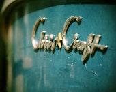 Photography Art - Chris Craft Boat - Vintage Chrome Signature on Blue
