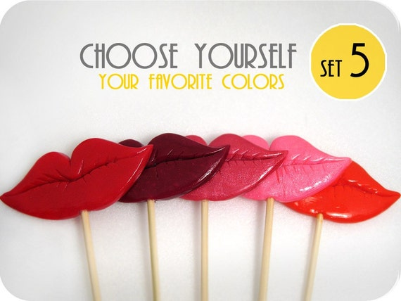 5 Lips - choose favorite shape and color