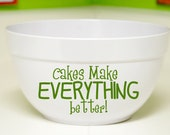 Personalized Cake or Batter Bowl