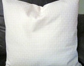 Decorative Pillow Cover in Cream Basketweave Design