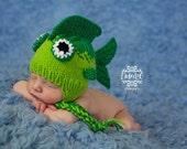 Bass fish  hat  newborn photo prop