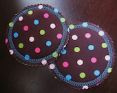 Washable Organic Nursing Pads/ Breast Pads w Bamboo and PUL