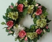 Clearance-Silk Wreath-Memorial-Mother's Day Wreath-spring-Last One Available