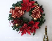 Clearance Sale-Artificial Silk Wreath-Christmas-FREE Gift-Holiday Decorations