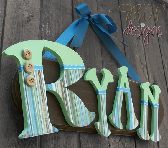 CUSTOM 4 Letter Name Plaque-MADE to your ORDER