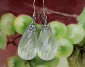 Vintage Lucite Earrings in Crystal Lalique
