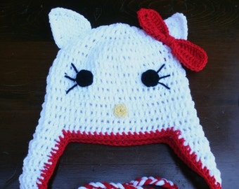 Hello Kitty earflap hat