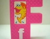 Retro Sesame Street Block Letter F