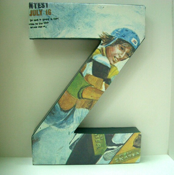 Letter Z with Retro Skatboarding Wallpaper